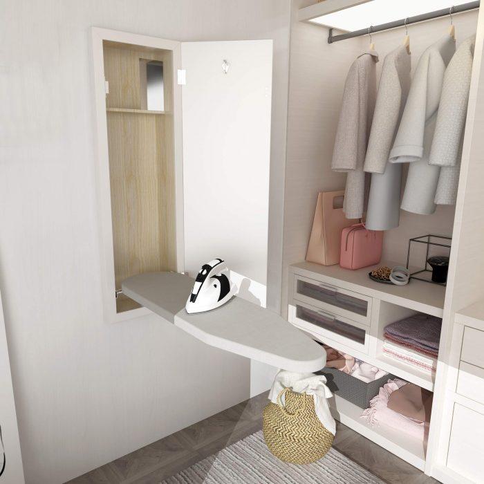 wall mounted ironing board
