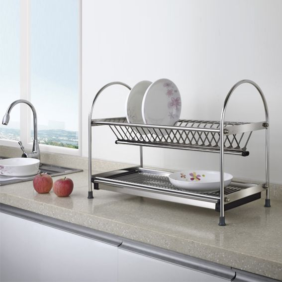 Free-standing dish rack & Steel Dish Rack | Kitchen Accessories | Kitchen Fitting -Vence Household