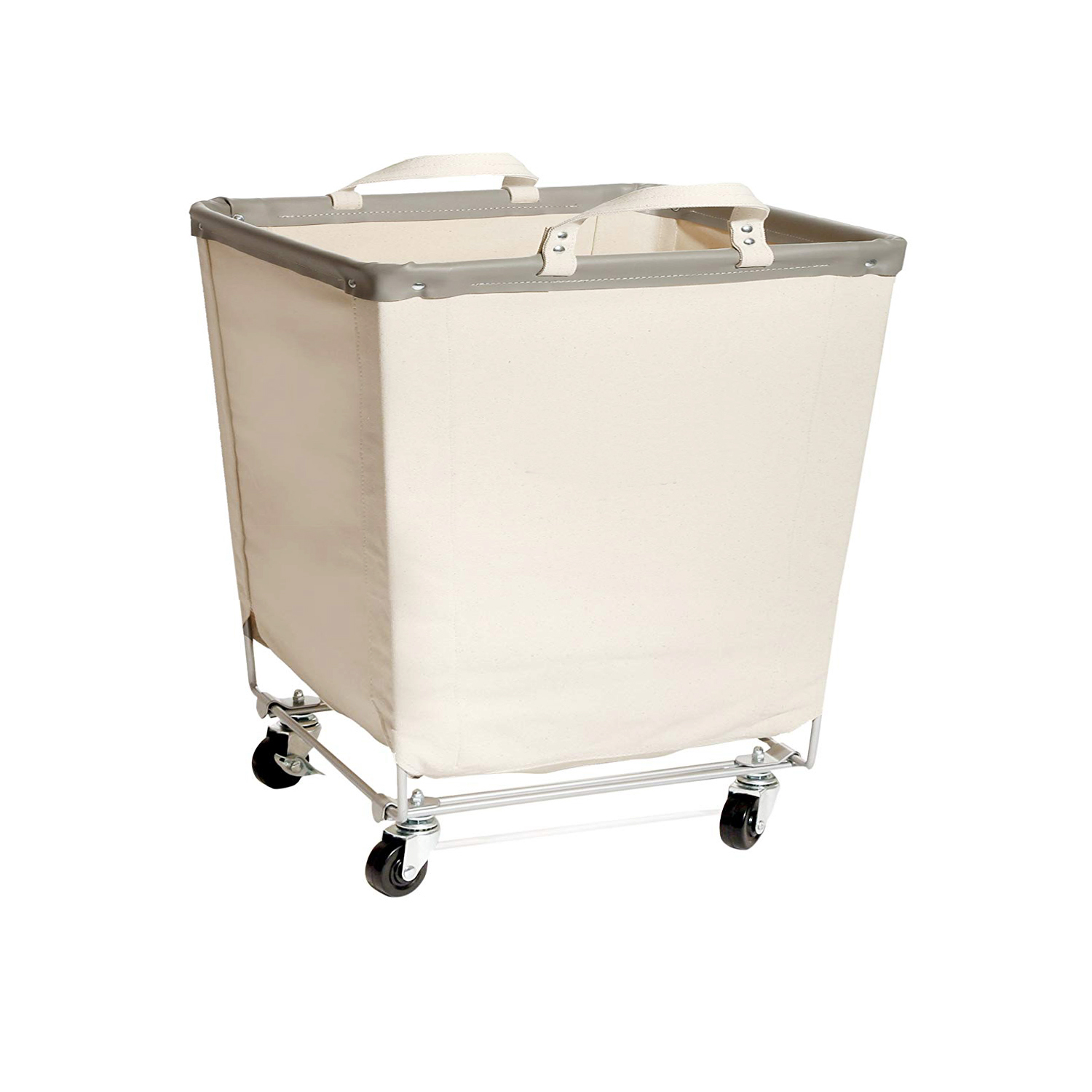 Clothes Basket Rolling Laundry Canvas Laundry Hamper With Wheels