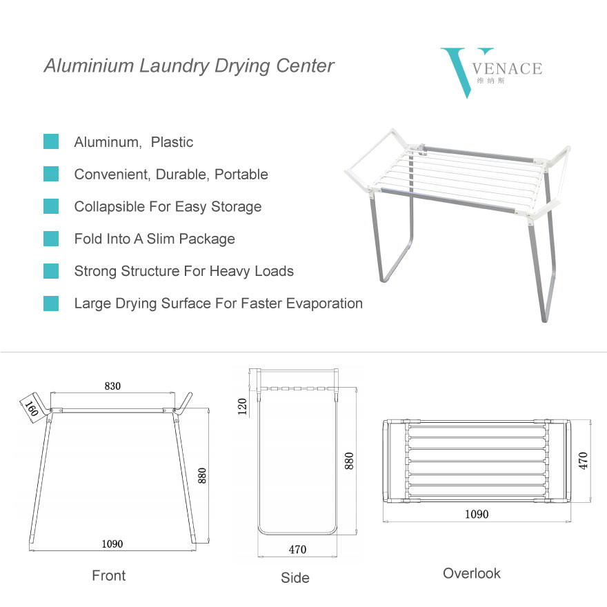 Alumium-Laundry-Center-Clothes-drying-rack-diagram