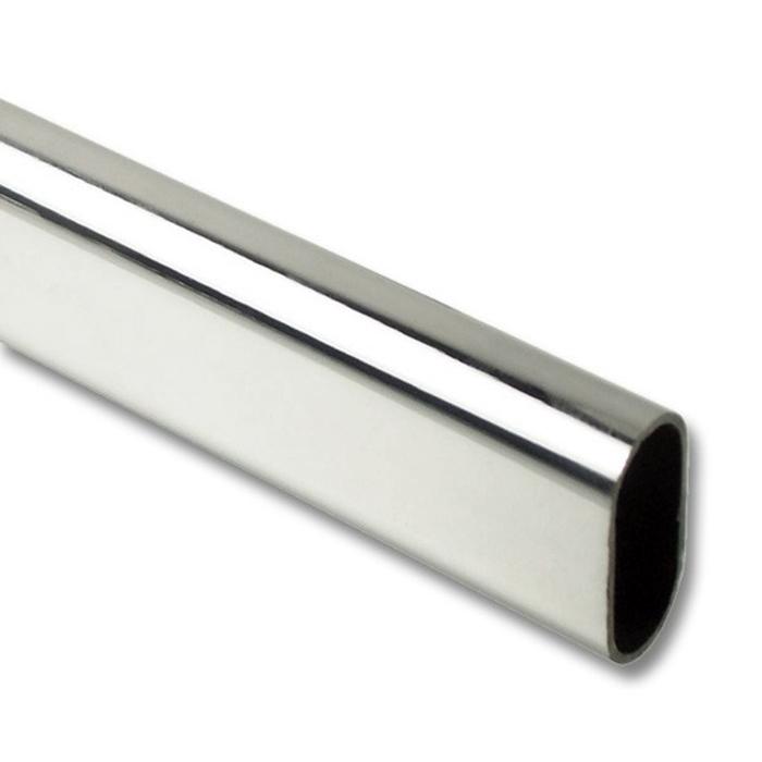oval metal closet rod wardrobe rail closet fittings. Black Bedroom Furniture Sets. Home Design Ideas