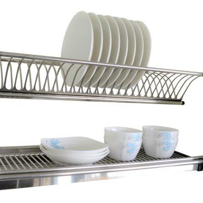 Dual-tier S.S. Dish Rack