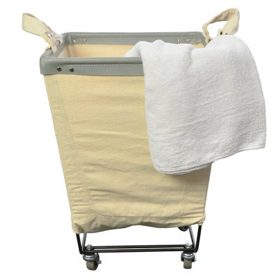 Square Rolling Canvas Laundry Hamper
