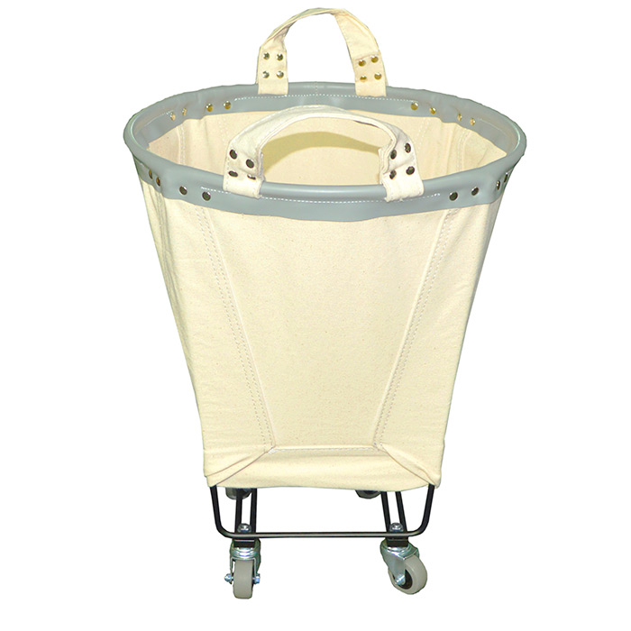 Rolling Round Canvas Laundry Cart Laundry Hamper
