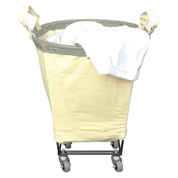 Small Round Canvas Laundry Cart