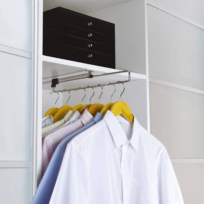 Closet Accessories Pull Out Wardrobe Rail