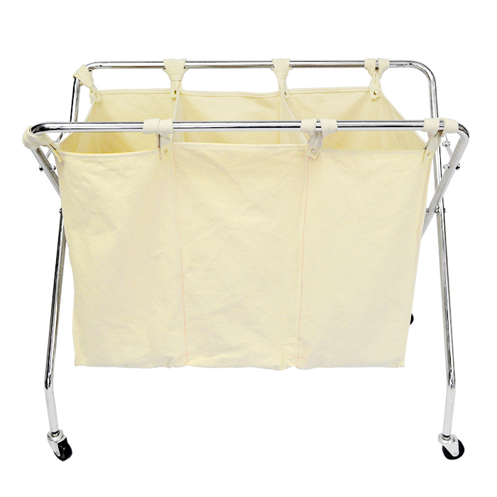 Folding Laundry Cart With Wheels Full Size Of Laundry