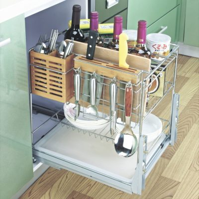kitchen wire cutlery basket