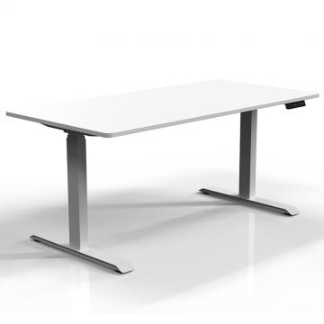 白色桌架带桌板侧面