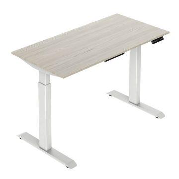 2-Stage Height Adjustable Desk – Rectangular Tube Legs