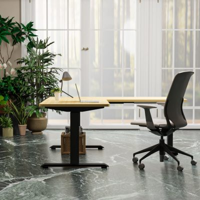 Tripe-Sit-to-Stand-Desk