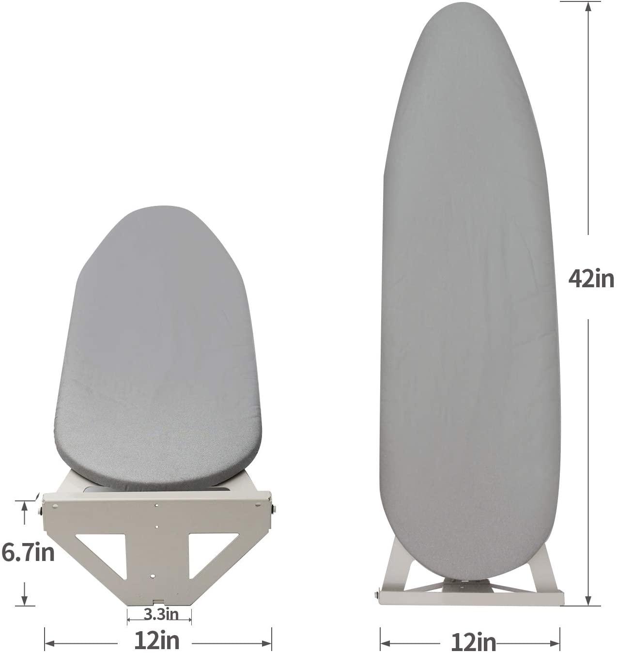 Wall Mounted Fold Down Ironing Board Size