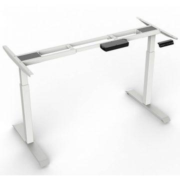 2-Stage Height Adjustable Desk – Square Tube Legs 1
