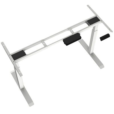 2-Stage Height Adjustable Desk – Square Tube Legs 2