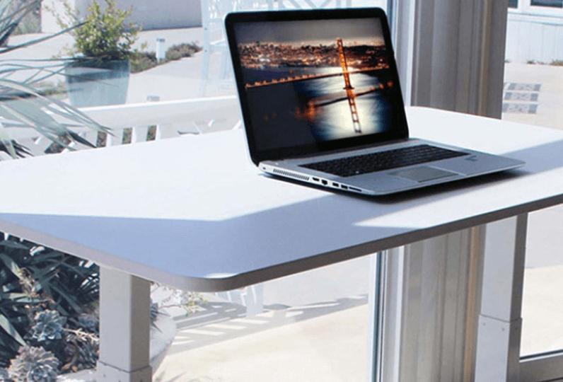 using a standing desk