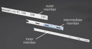 3 Section Ball Bearing Drawer Slides Class 2 300x160