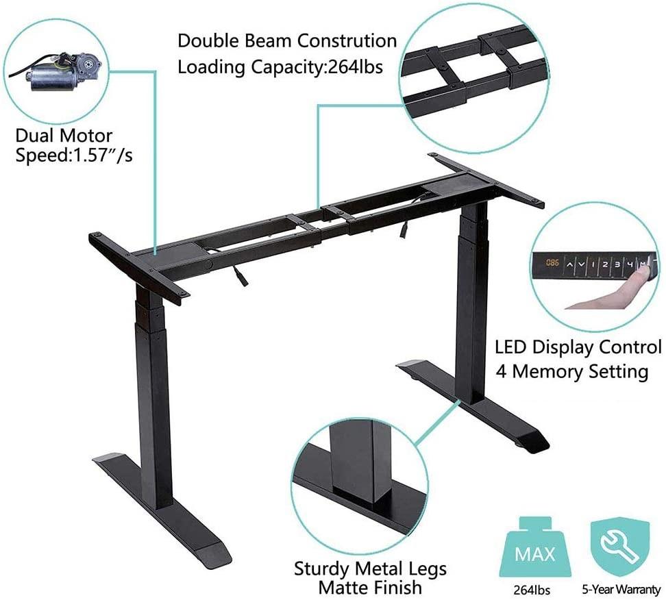 standing desk frame