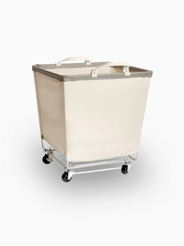 Canvas Laundry Basket With Wheels 600800