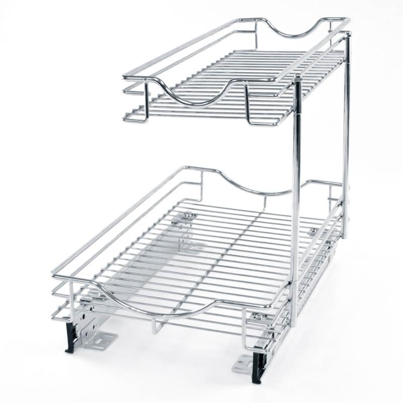 Detachable 2 Tier Under Sink Pull Out Sliding Organizer 1 800