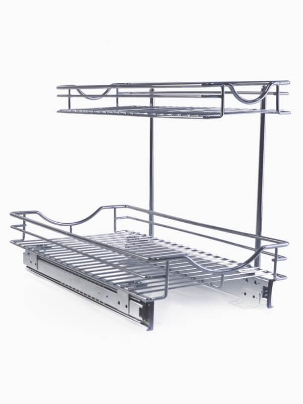 Detachable 2 Tier Under Sink Pull Out Sliding Organizer 600800 1