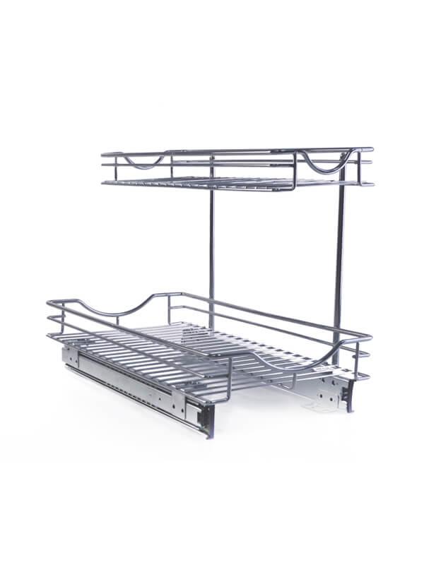 Detachable 2 Tier Under Sink Pull Out Sliding Organizer 600800