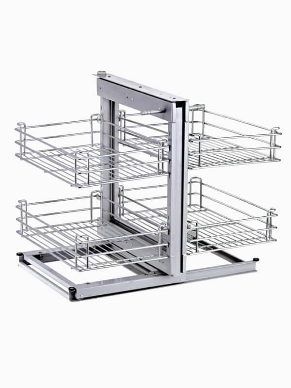 Magic Corner II Blind Corner Slide Out Kitchen Cabinet Organizer 600800 1