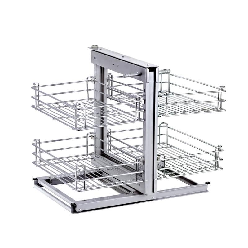 Magic Corner II Blind Corner Slide Out Kitchen Cabinet Organizer 800