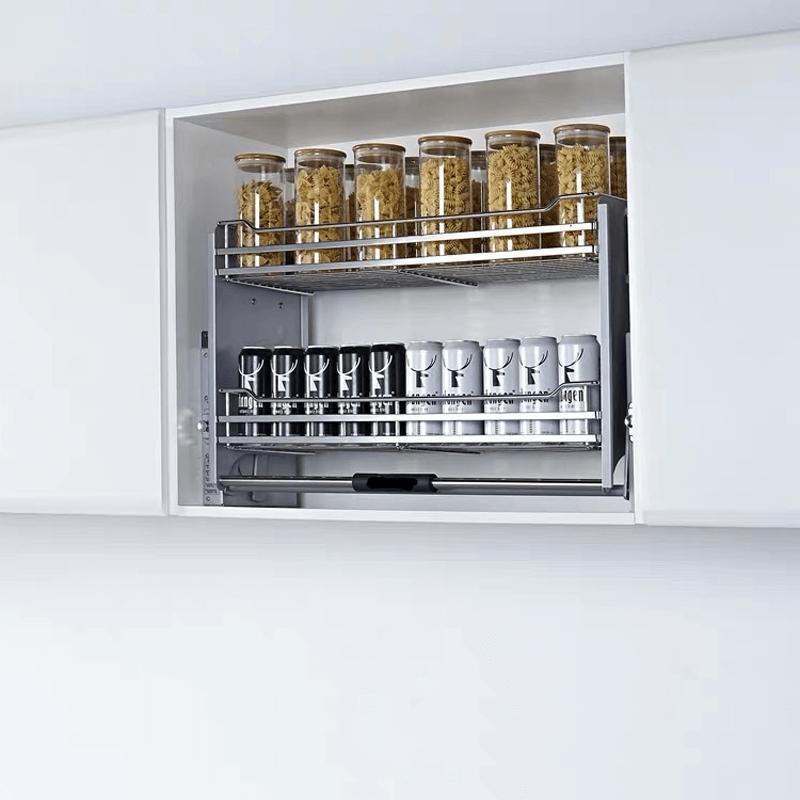 Kitchen Elevator Lift System Pull Down Cabinet Organizer Scenes