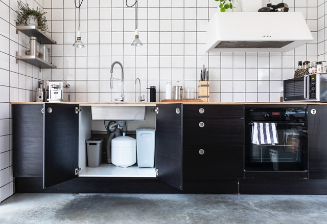 what should be stored under the kitchen sink
