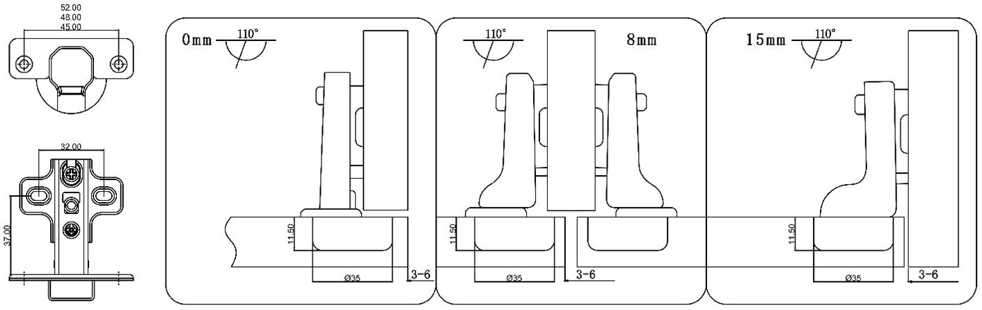 cabinet door hinges